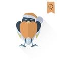 Funny Bird Bullfinch in Christmas Cap vector image