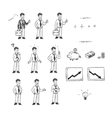 Hand drawn set for doodle animation vector image