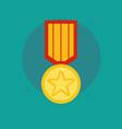 Medal award winner trophy flat vector image