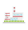 nuclear power plant alterative energy source vector image
