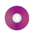 Pink Compact Disc vector image