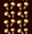seamless texture with realistic light bulbs and vector image