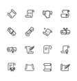 Simple Scrolls and Papers Icons vector image