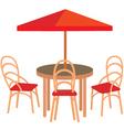summer street cafe vector image