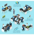 Office Isometric Infographics vector image