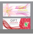 Gift Voucher Template Flower Natural Discount vector image
