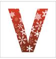 V Letter vector image vector image