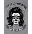 dia de los muertos poster in rusty texture vector image