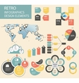 Retro vintage Infographic template business vector image vector image