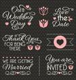 Wedding design elements vector image