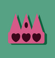 flat icon design collection crown silhouette in vector image vector image