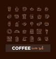 outline web icon set - drink coffee tea vector image