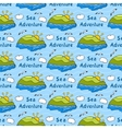 Summer seamless pattern with bright images of vector image vector image
