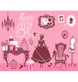 girl room birthday 380 vector image