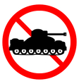 No war sign on white vector image