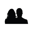 couple silhouette in black vector image vector image