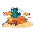 Coral reef vector image