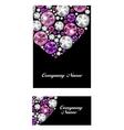 Abstract Luxury Black Diamond Business Card vector image