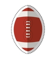 american football isolated icon vector image