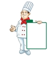 chef menu vector image