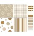 Fabric pattern set vector image
