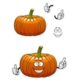 Funny pumpkin vegetable cartoon character vector image