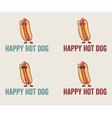 Hot Dog Cartoon Character Wearing Sunglasses vector image
