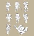 Kid Cartoon Set vector image