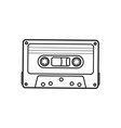 old fashioned audio cassette tape from 90s vector image