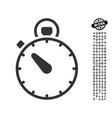stopwatch icon with work bonus vector image
