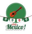 Viva mexico - guitar festival poster vector image