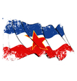 Yugoslavian flag Grunge vector image