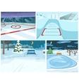 cartoon set of winter backgrounds vector image vector image