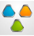 Abstract shapes with silver frame vector image