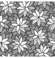 abstract leaf plant seamless monochrome background vector image vector image