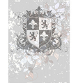 ornamental heraldic shield vector image vector image