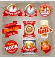 Happy hour vector image vector image