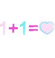 Love formula vector image