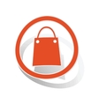 Shopping sign sticker orange vector image