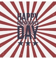 Presidents Day Text on striped grunge Background vector image