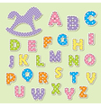 alphabet letters for kids vector image