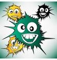 Crazy furry funny face cartoon design background vector image