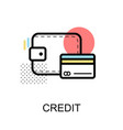 credit card graphic icon vector image