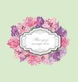 flower boder floral frame flourish greeting card vector image