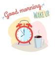 Good morning wake up vector image