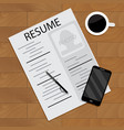 hired and employment view vector image