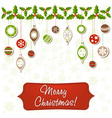 Beautiful Christmas greeting card vector image