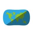 globe earth map navigation shadow vector image