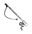 fishing rod isolated vector image