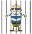 Bad guy in Jail vector image vector image
